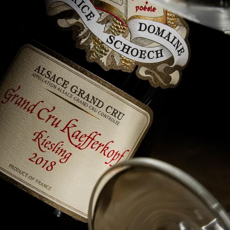 Maurice Schoech Riesling Grand cru Kaefferkopf alsace france 2018 - Partez à la découverte des plus grands vins d'Alsace sous forme de parcours dégustation (Winetasting) ludiques et personnalisés, Le Caveau à Colmar !